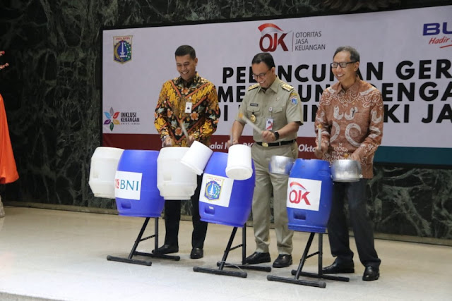 Pemprov DKI Kerjasama OJK Inisiasi Ayo Menabung dengan Sampah