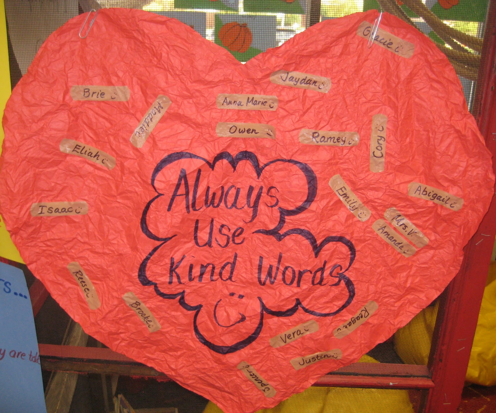 First Grade Wow No Bullying Crumpled Hearts