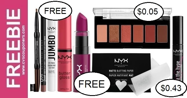 FREE NYX Makeup CVS Deals 9-5-9-11