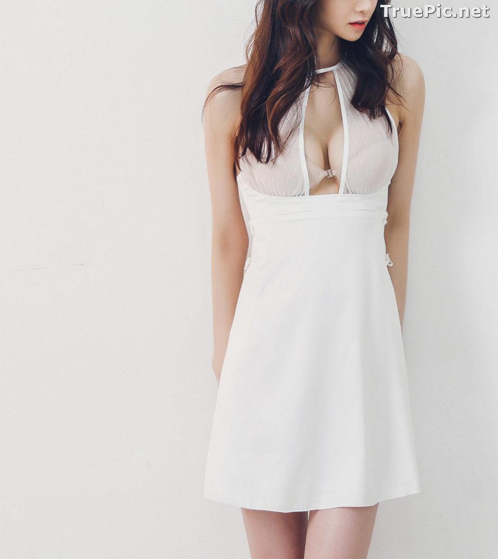 Image Korean Fashion Model - Carmen - White Sleepwear and Lingerie - TruePic.net - Picture-3