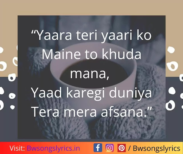 bollywood hindi song lyrics quotes for instagram