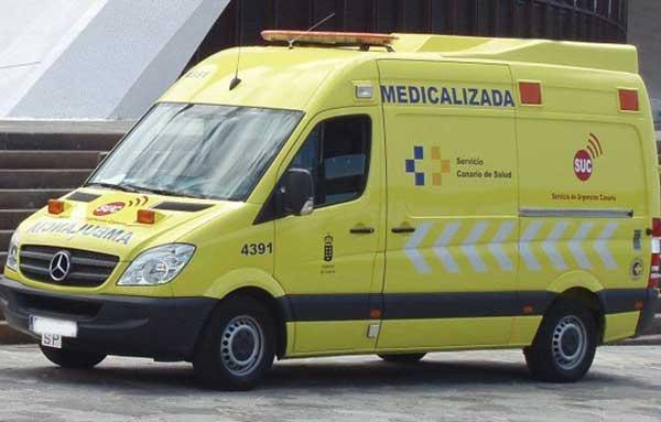 Dos mujeres heridas en accidente de dos motocicletas en Las Remudas, Telde, Gran Canaria
