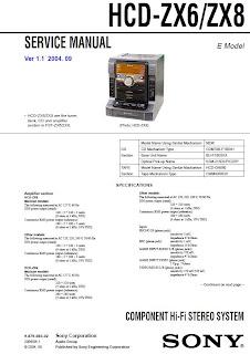 HCD   ZX6 ZX8 Diagrama    SONY     Reparaci  n T  cnica