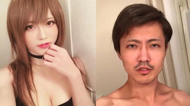 Biasanya Menggunakan Riasan Wanita, Cosplayer Ini Ternyata adalah Seorang Pria, Foto Aslinya Bikin Melongo!