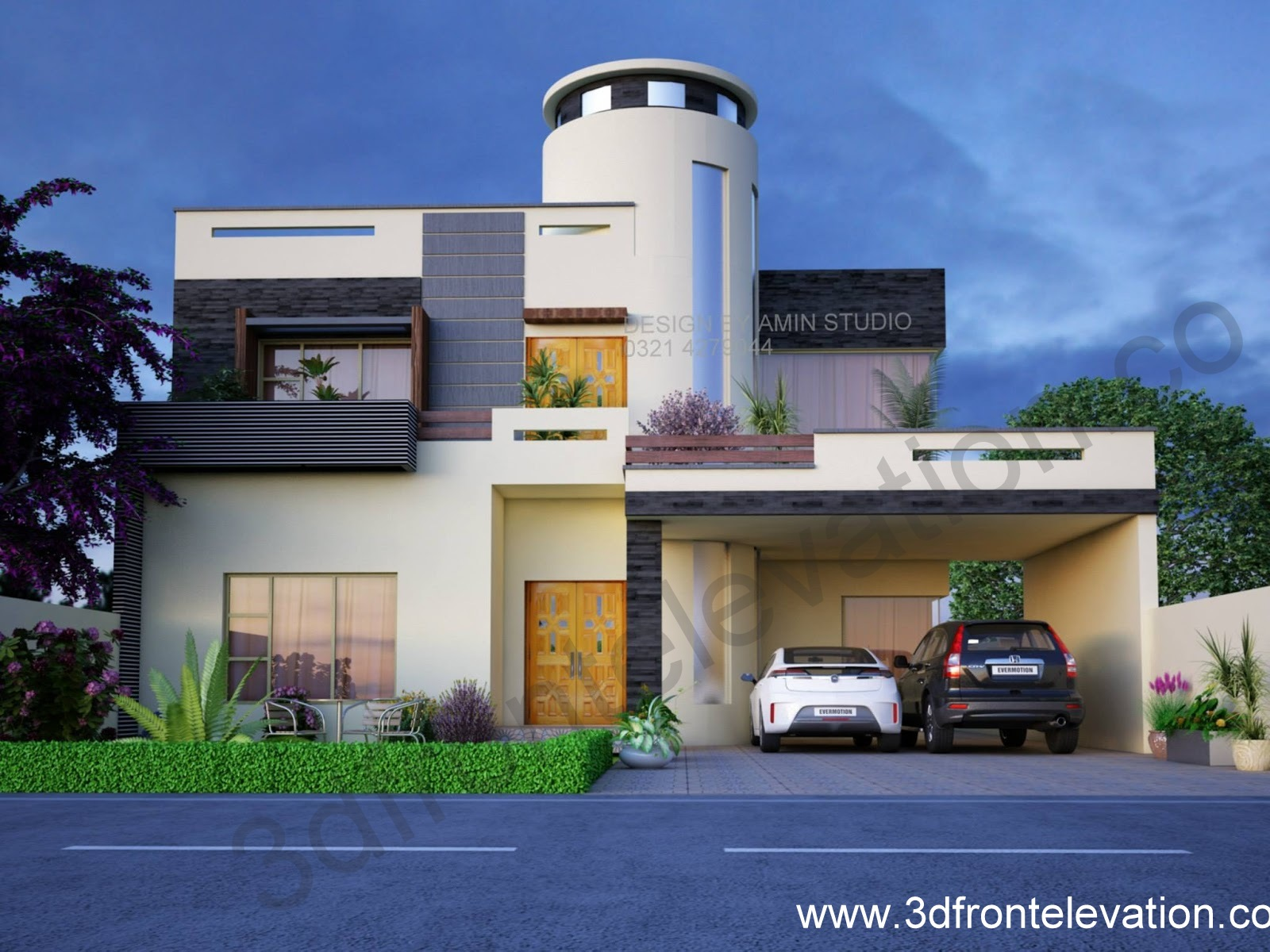 3d front nayyar ali dada architect house