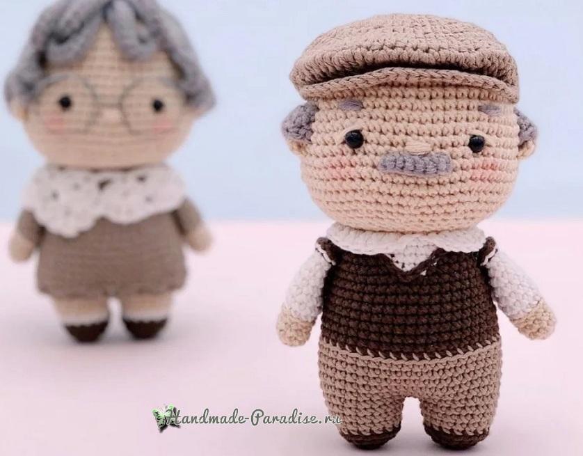 Описание вязания крючком кукольной пожилой пары (5)