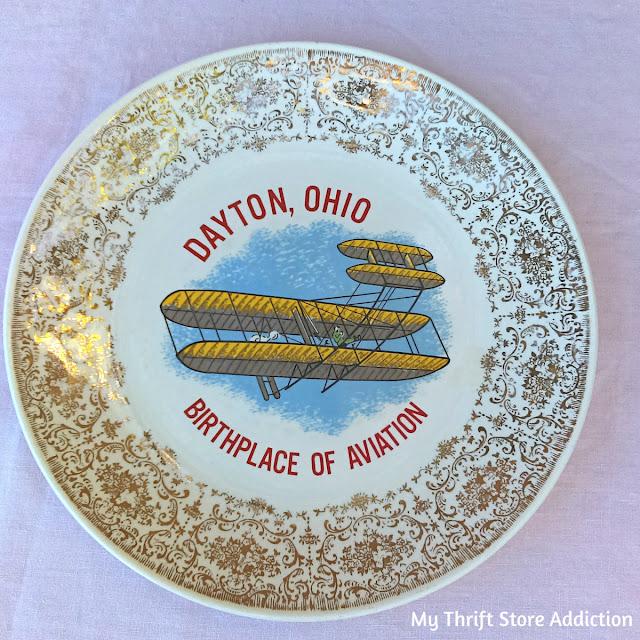 Dayton Ohio souvenir plate