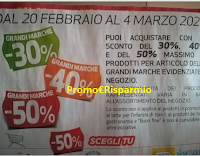 Logo Coop ''Scegli tu'' : sconto del 30% - 40% e 50% Grandi Marche