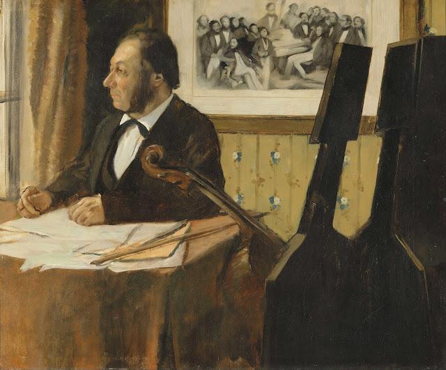 Эдгар Дега - Виолончелист Пилет (1868-1869)