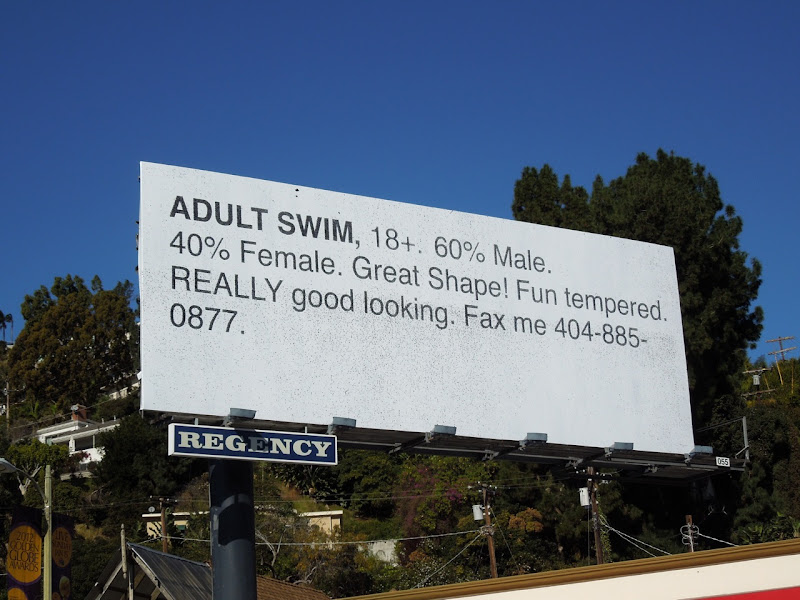 Adult Swim Personal ad billboard