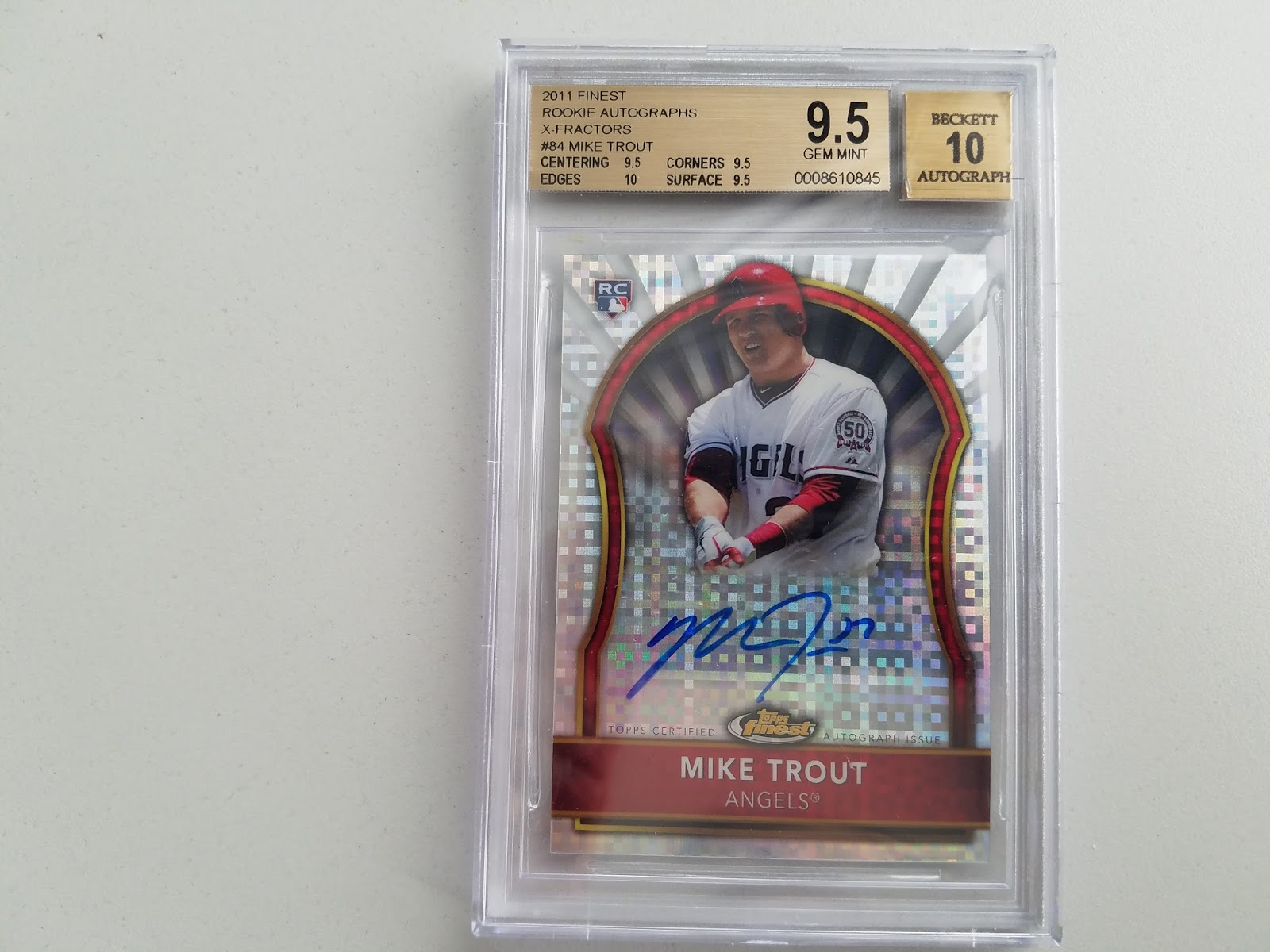Dodger Penguin Card Of The Day 2011 Topps Finest Mike Trout