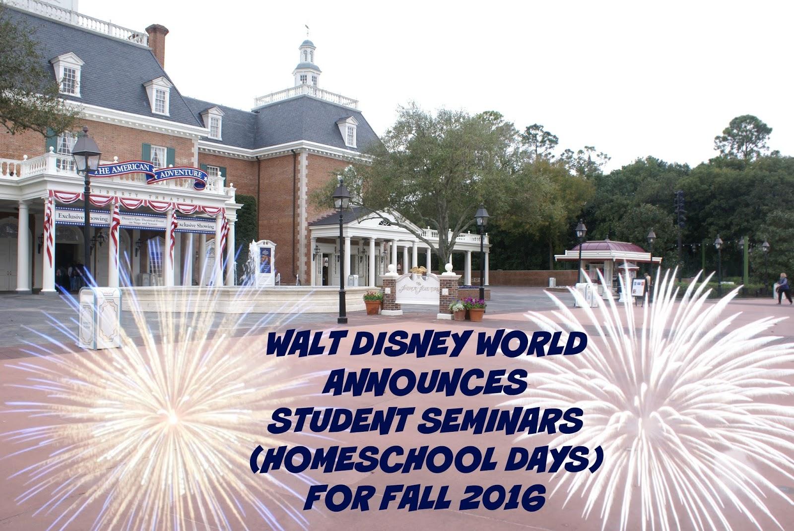 Walt Disney World Releases Homeschool Day Dates For Fall