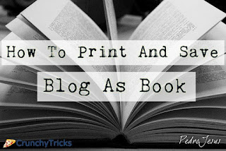 Print And Save Blog As Book