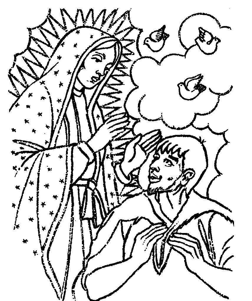 Virgen De Guadalupe Para Coloriar Wwwtollebildcom