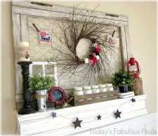 Valentine Mantel with Natural Elements