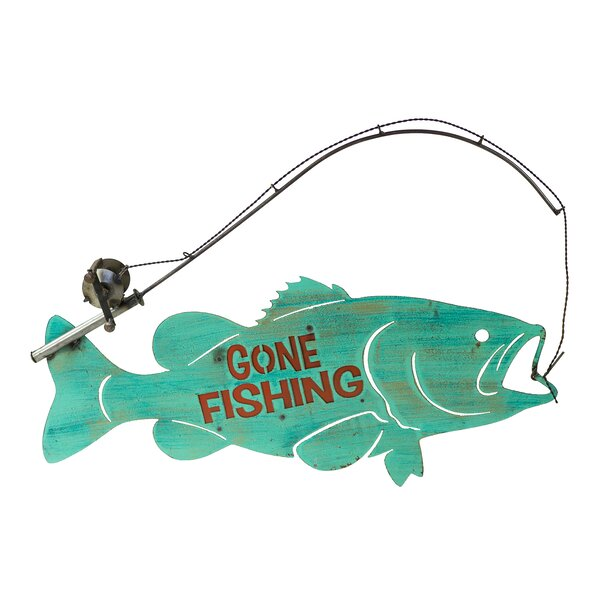 Go Fishing Fish Wall Decor