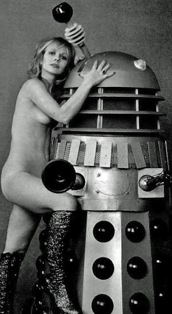 Katy Manning getting friendly with a Dalek?