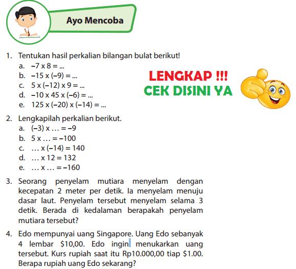 Lengkap Kunci Jawaban Halaman 42 43 Buku Senang Belajar Matematika Kelas 6 Jawaban Tematik Terbaru