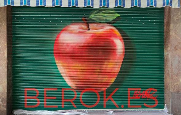 Graffiti manzana fruteria