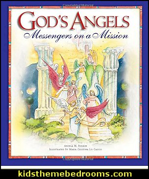 God's Angels: Messengers on a Mission  Jesus for kids - Bible Stories wall murals - Christian Bible Verse wall decal stickers - Christian home decor - bible verse wall art -  inspirational bedding - Christian bedding - Christian kids toys - Lion and Lamb toddler beds -  bible stories for kids - Christening Baptism Gifts - Psalm bedding - Scripture throw pillows - bible verse throw pillows -  Vacation Bible School Decorations