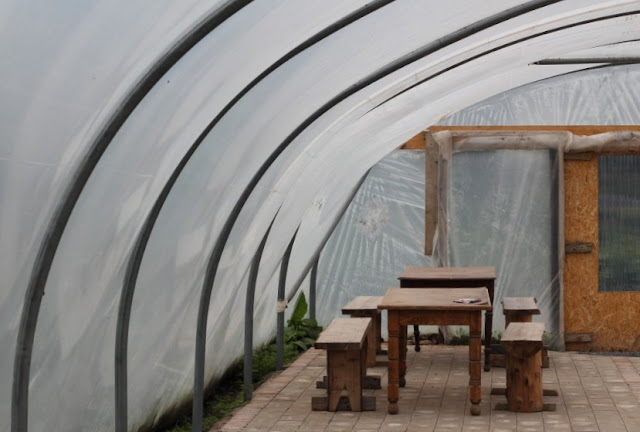 Polytunnel on the Eco Village Community Farm