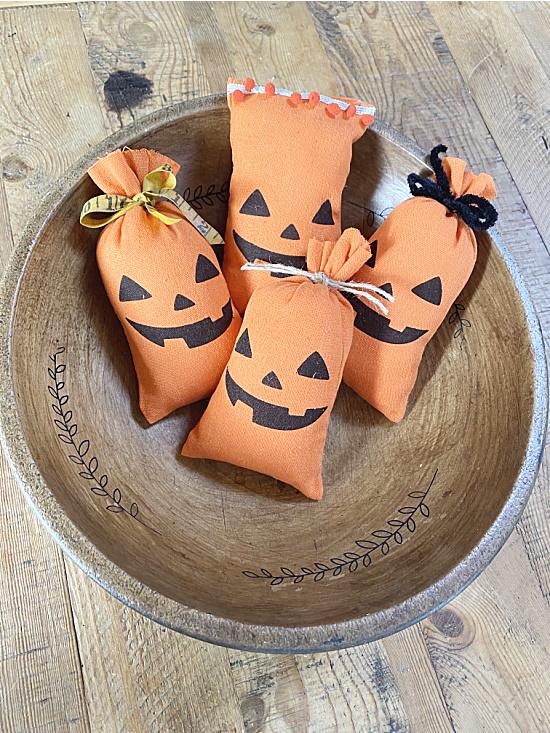 bowl of pumpkin pillows