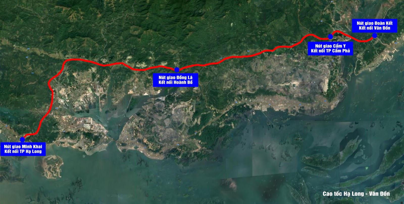 Chiều dài tuyến cao tốc Hạ Long - Vân Đồn