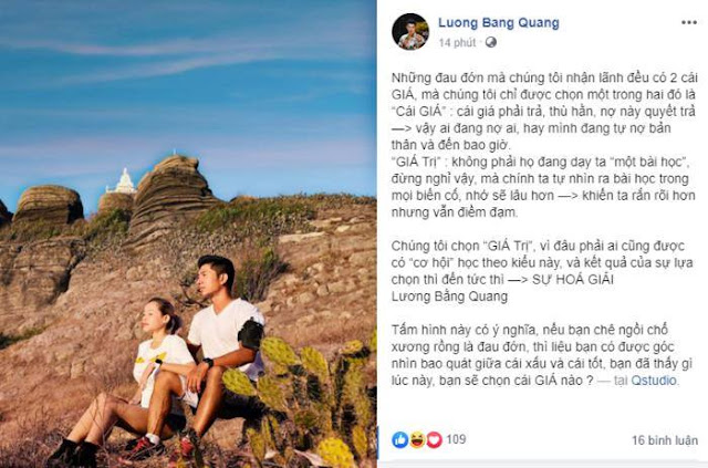 Bị đánh đến mức nhập viện, Lương Bằng Quang vẫn lên mạng bàn triết lý