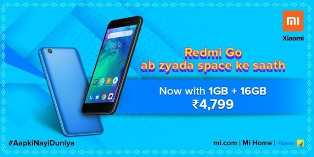 Xiaomi Redmi Go with 16GB storage variant launched in India