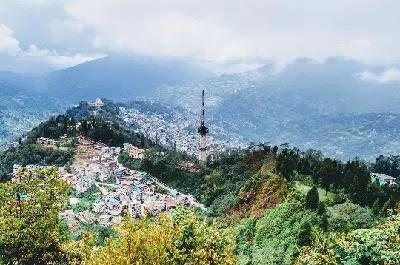 Sikkim-Gangtok, poster on sikkim dharti ka swarg