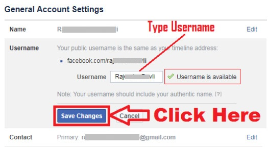how to create custom url for facebook profile