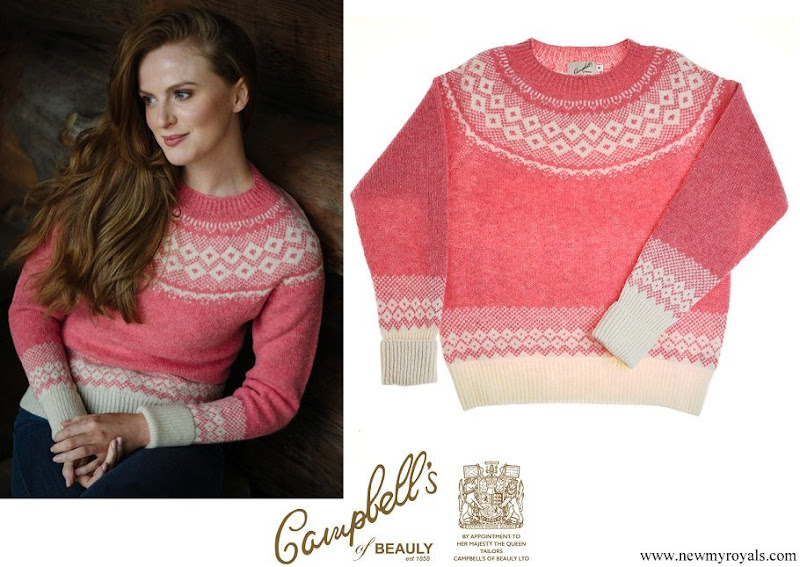 Kate Middleton wore Campbells of Beauly Nordic Crew Jumper