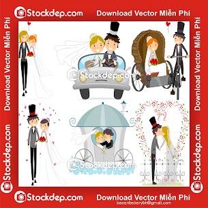 vector Wedding background đám cưới
