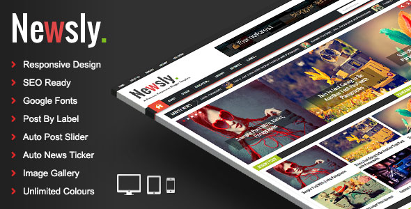 Download Free Newsly Responsive Multipurpose Blogger Template