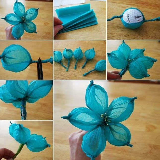 #T17 DIY: Flor de papel de seda