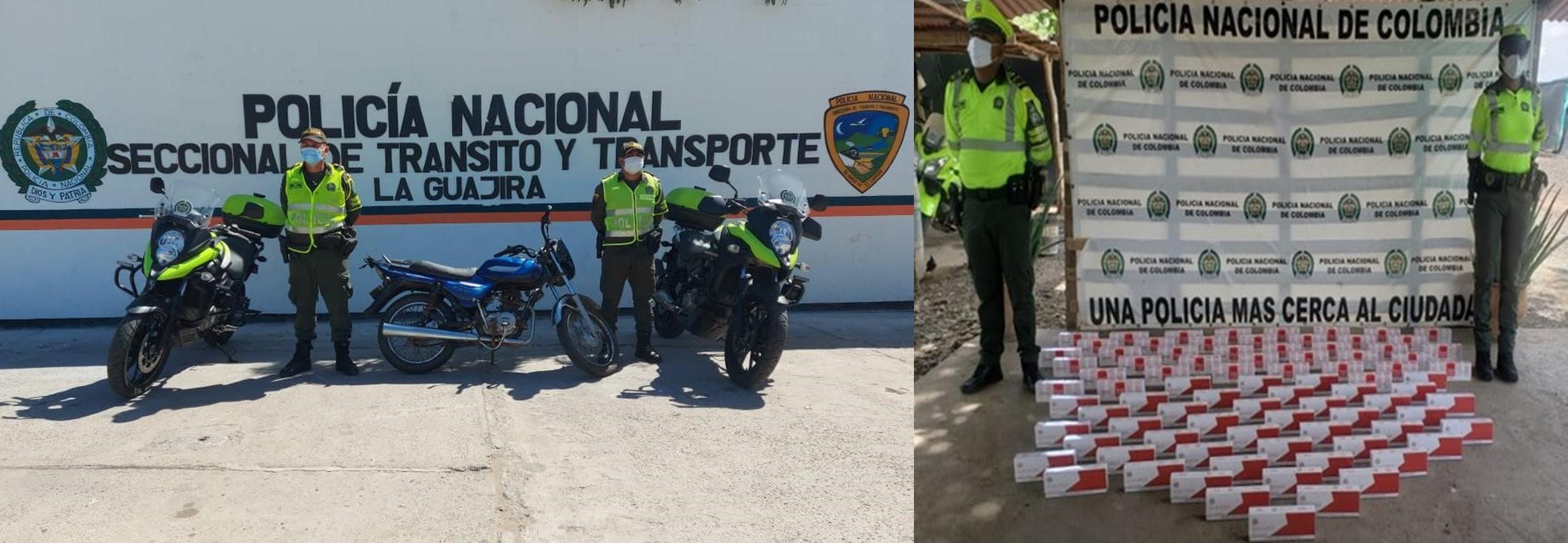 hoyennoticia.com, Dos motos recuperó la Policía e incautó cigarrillos de contrabando
