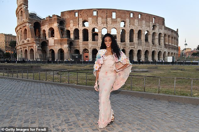 Winnie Harlow joins Zendaya and a host of other stars at Fendi fashion show in Rome