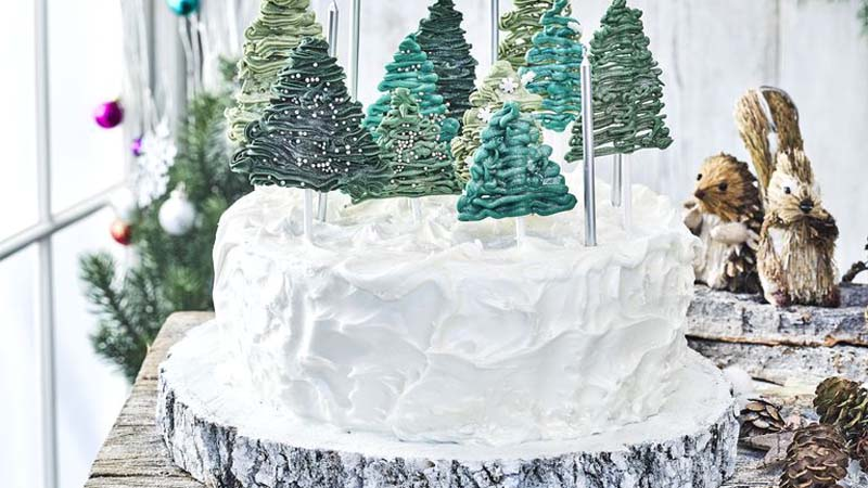 Magical Forest Christmas Cake