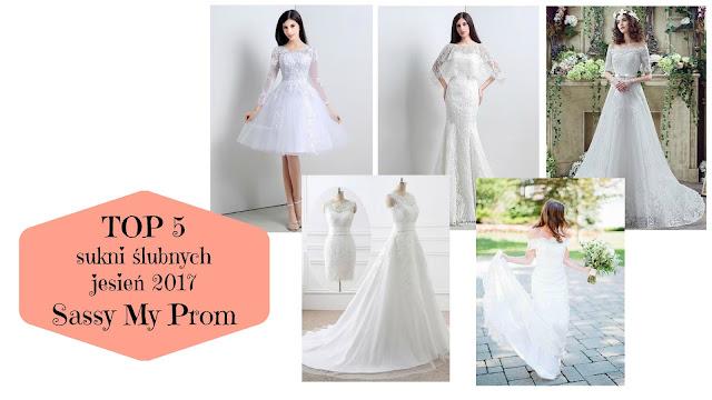 TOP 5: sukni ślubnych - jesień 2017 | Sassy My Prom