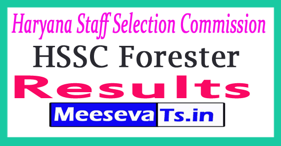 Haryana Staff Selection Commission Foresters Result 2017