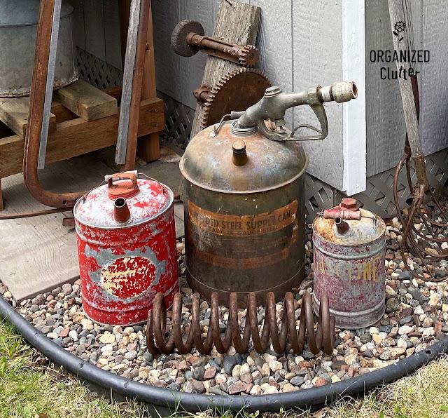 Photo of garden junk gas cans