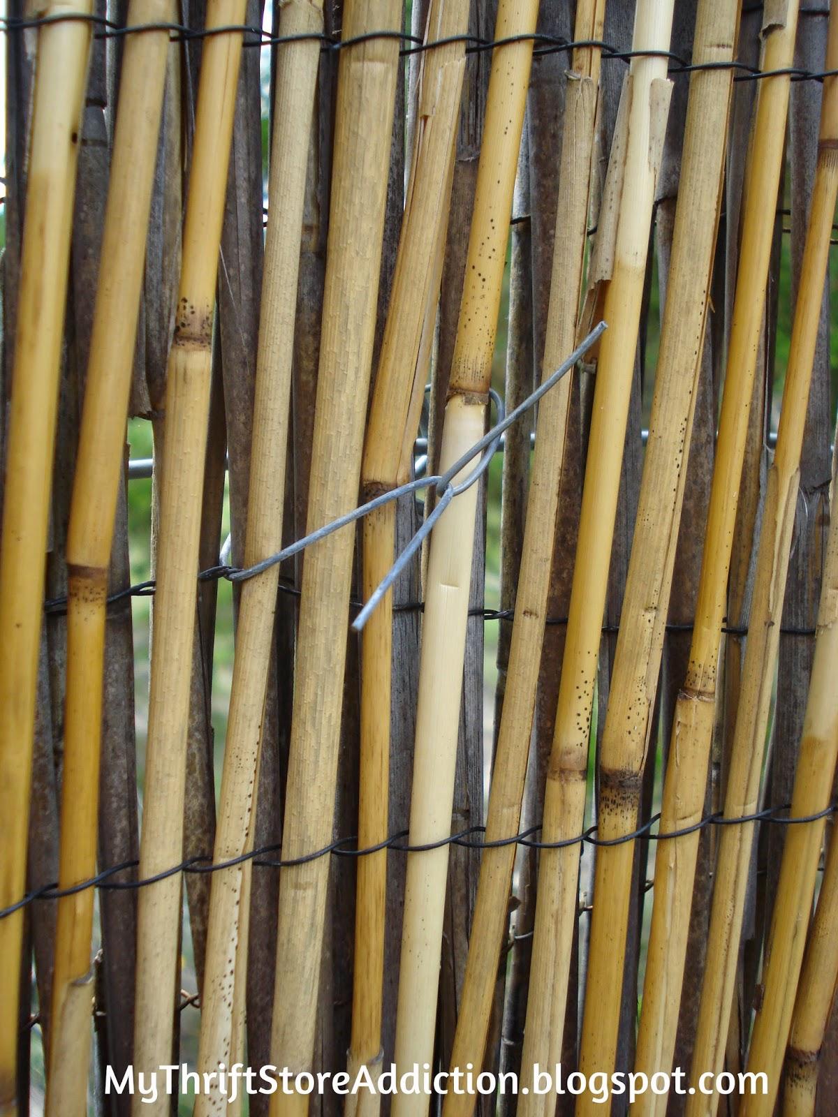 DIY reed fencing
