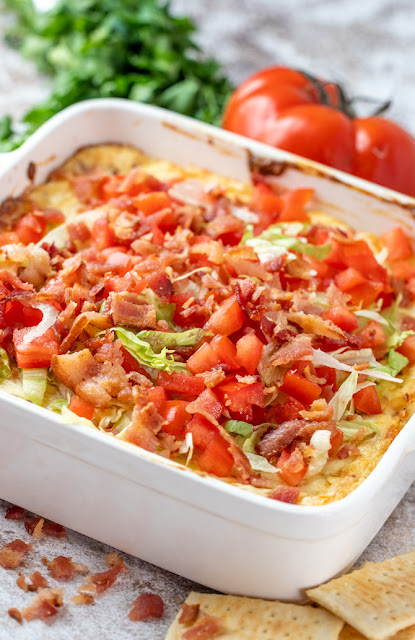Baked BLT Dip in Casserole