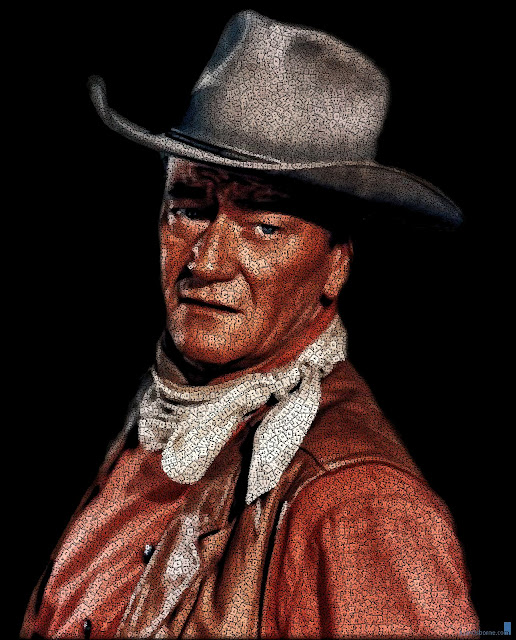 John Wayne text portrait by Juan Osborne