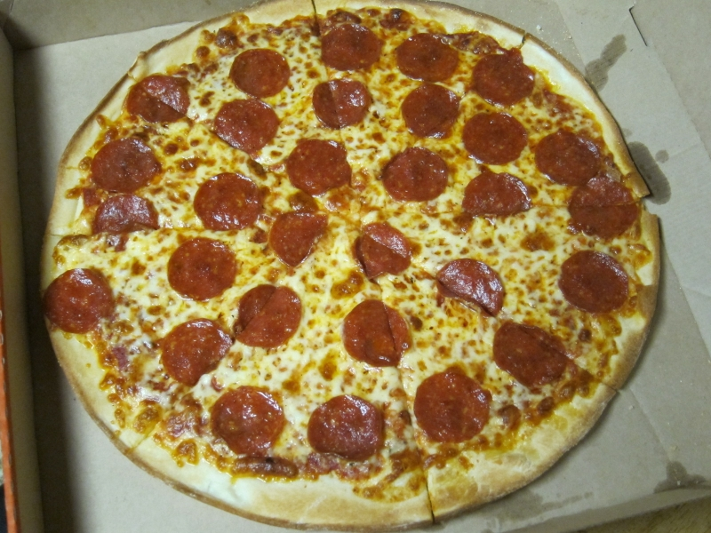 Review Little Caesars Thin Crust Pepperoni Pizza