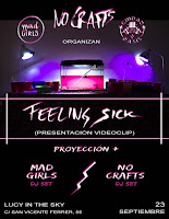 No Crafts, fiesta presentación videoclip de Feeling Sick
