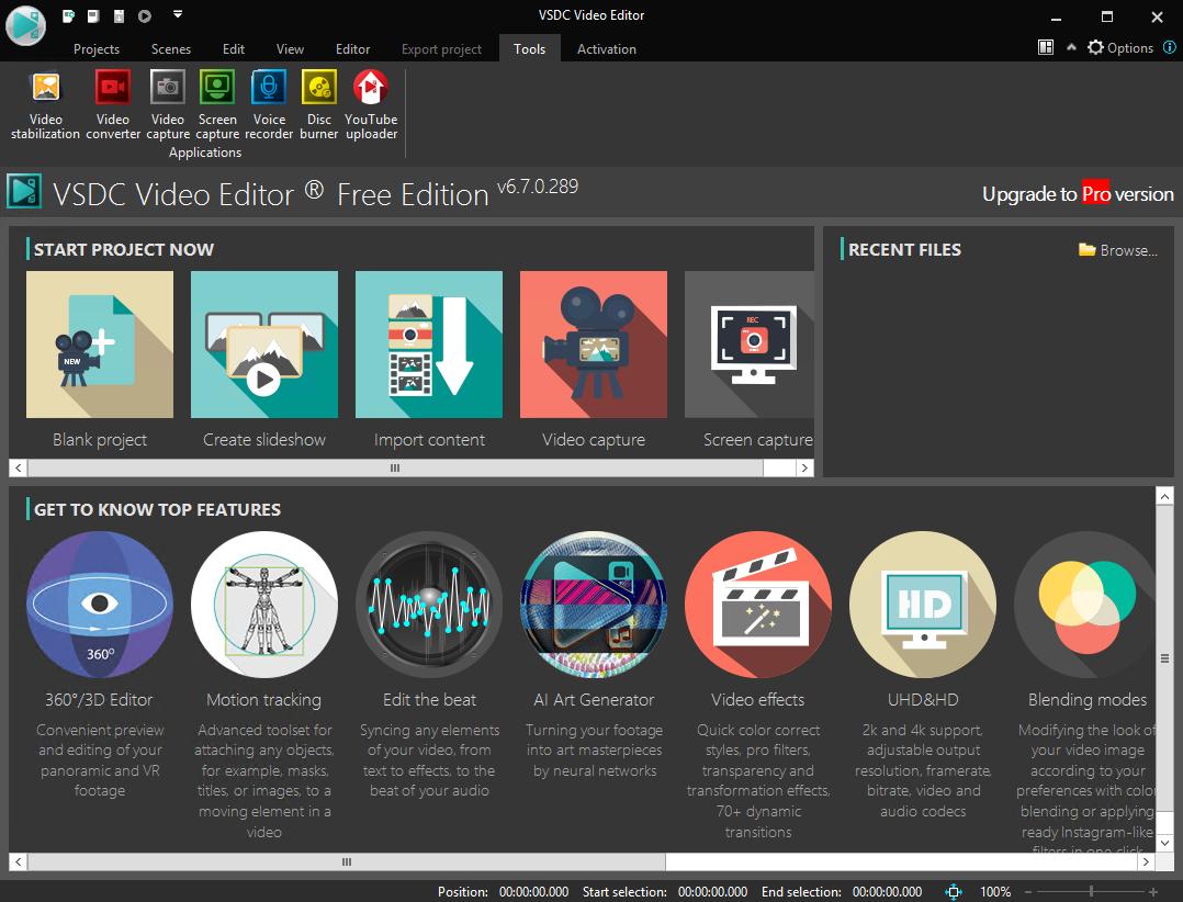 VSDC Free Video Editor 6.7.0.289