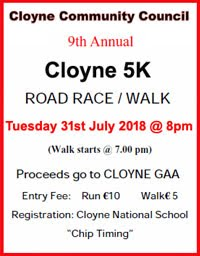Flat 5k in East Cork...Tues 31st July