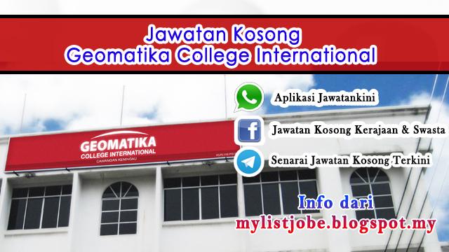 Jawatan Kosong di Geomatika College International,Kuala Lumpur