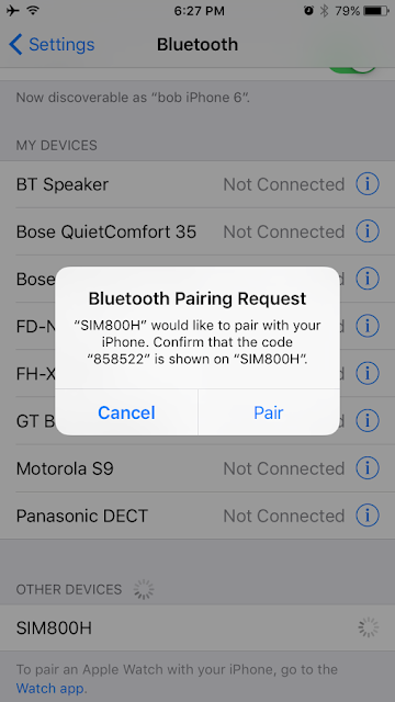 SIM800 Bluetooth Sync iPhone Contacts